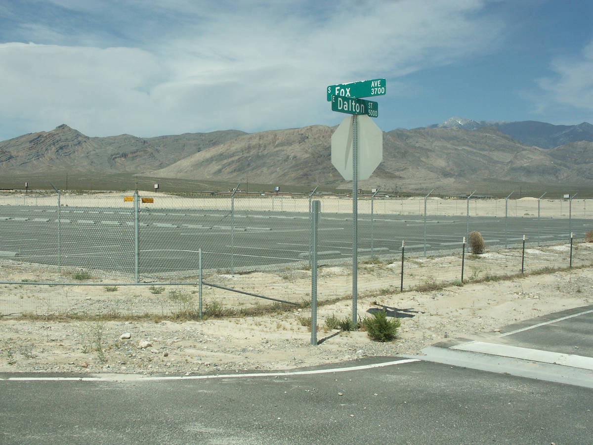 Selwyn Harris / Pahrump Valley Times - People can ignite fireworks at the Pahrump Fairgrounds s ...
