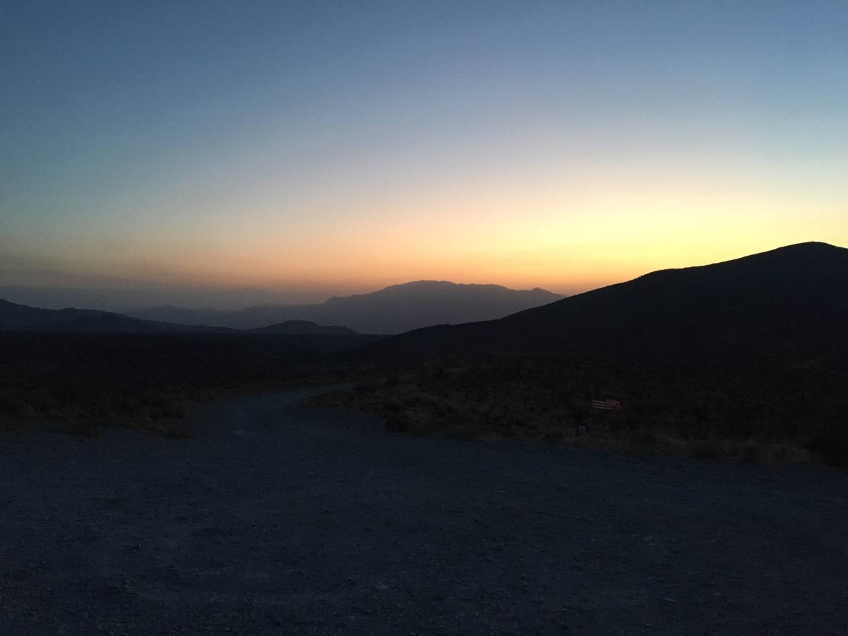 Sunrise at Mount Charleston, on Monday, June 29, 2020, the morning after a fire scorched 5,000 ...