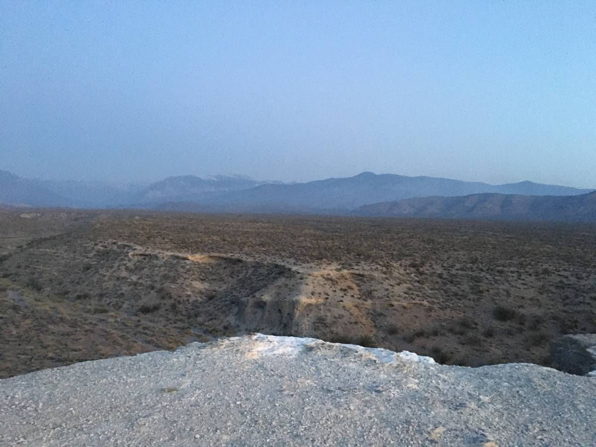 The view of the Mahogany Fire at Mount Charleston on Monday, June 29, 2020, from Kyle Canyon Ro ...