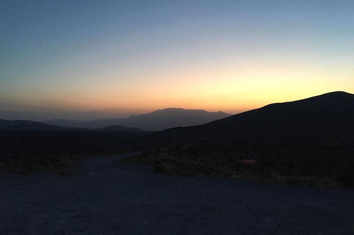 Sunrise on Monday, June 29, 2020, from near Kyle Canyon Road. (Michael Quine/Las Vegas Review-J ...