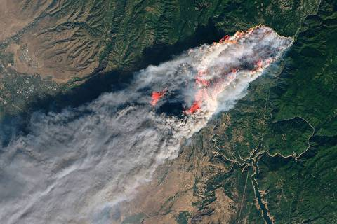 Special to the Pahrump Valley Times NASA satellite imagery shows the immensity of the 2018 Camp ...