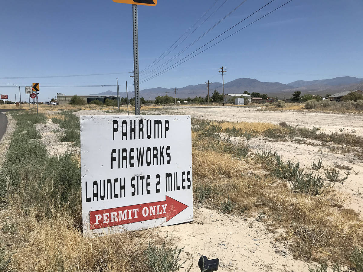 Robin Hebrock/Pahrump Valley Times For those who want to detonate some fireworks on their own, ...