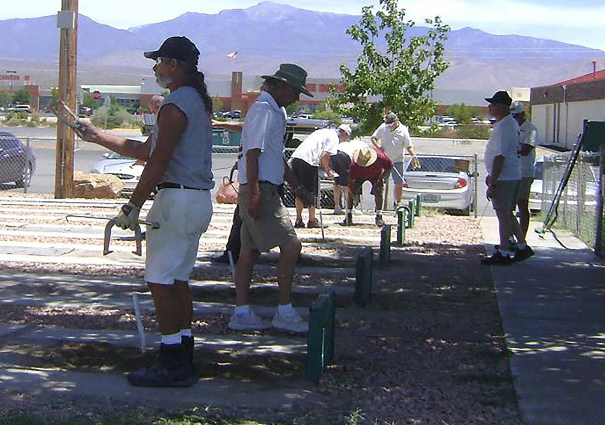 Pahrump Valley Times file The horseshoes pits at Petrack Park will be busy Sunday when the Sout ...