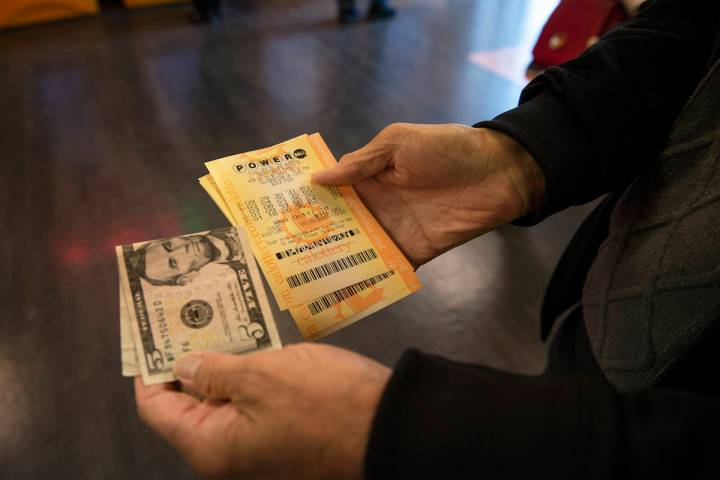 Caroline Brehman/Las Vegas Review-Journal A lottery ticket is shown in this file photo from Ca ...