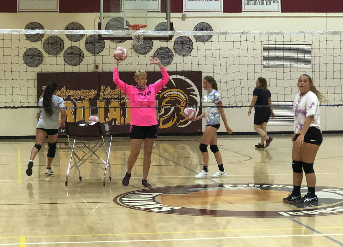 Tom Rysinski/Pahrump Valley Times Limited to nine players at a time in the gym because of COVID ...