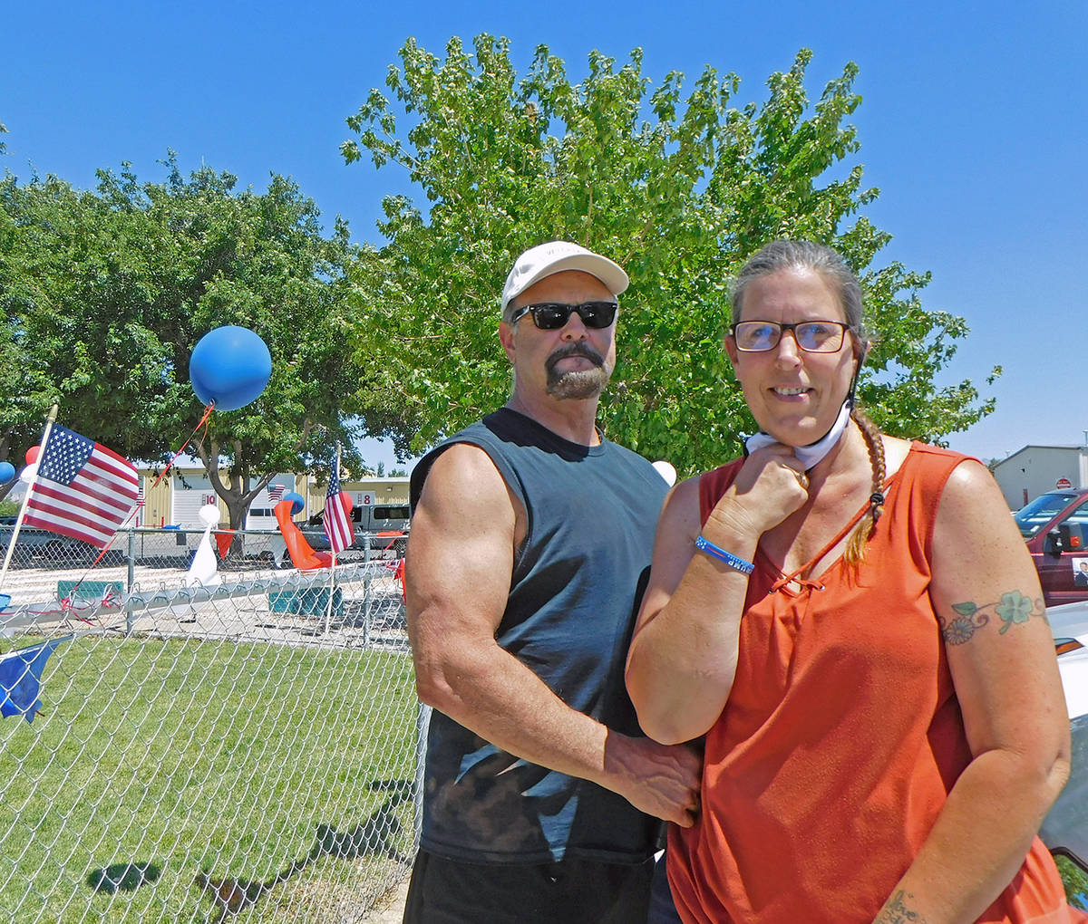 Robin Hebrock/Pahrump Valley Times David and Stacie Hiebert came up with the idea of hosting a ...