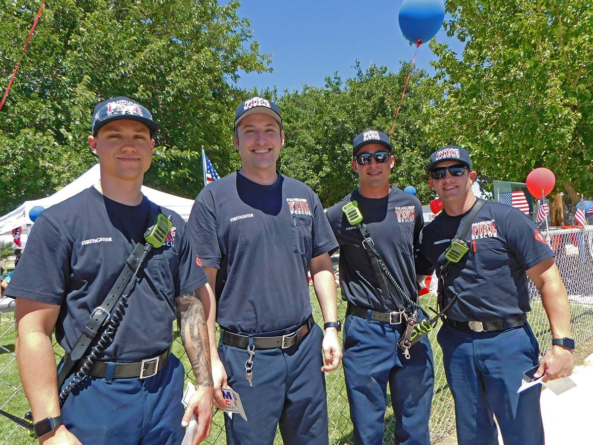Robin Hebrock/Pahrump Valley Times First Responders were given a warm welcome at the picnic hel ...