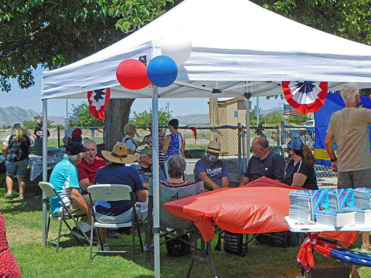 Robin Hebrock/Pahrump Valley Times The shady, grassy area just behind the Pahrump Community Poo ...