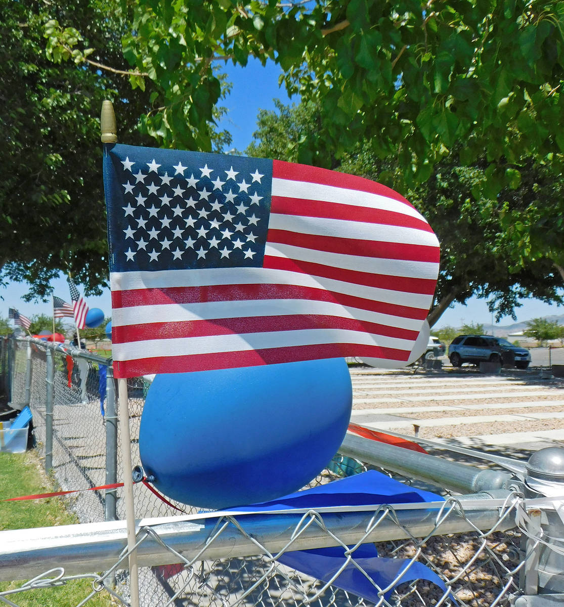 Robin Hebrock/Pahrump Valley Times The venue of the First Responders Appreciation Picnic was fe ...