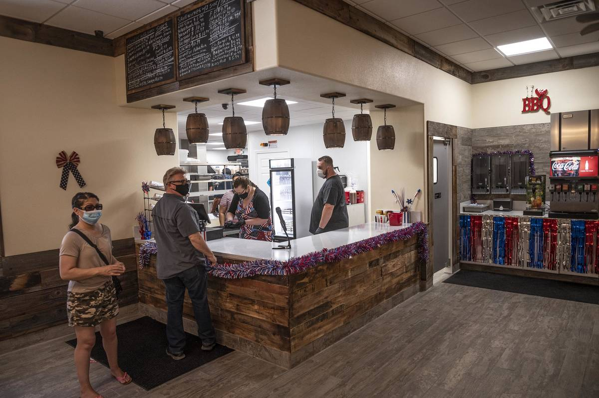 Richard Stephens/Special to the Pahrump Valley Times Smokin' J's Barbecue opened in Beatty in ...