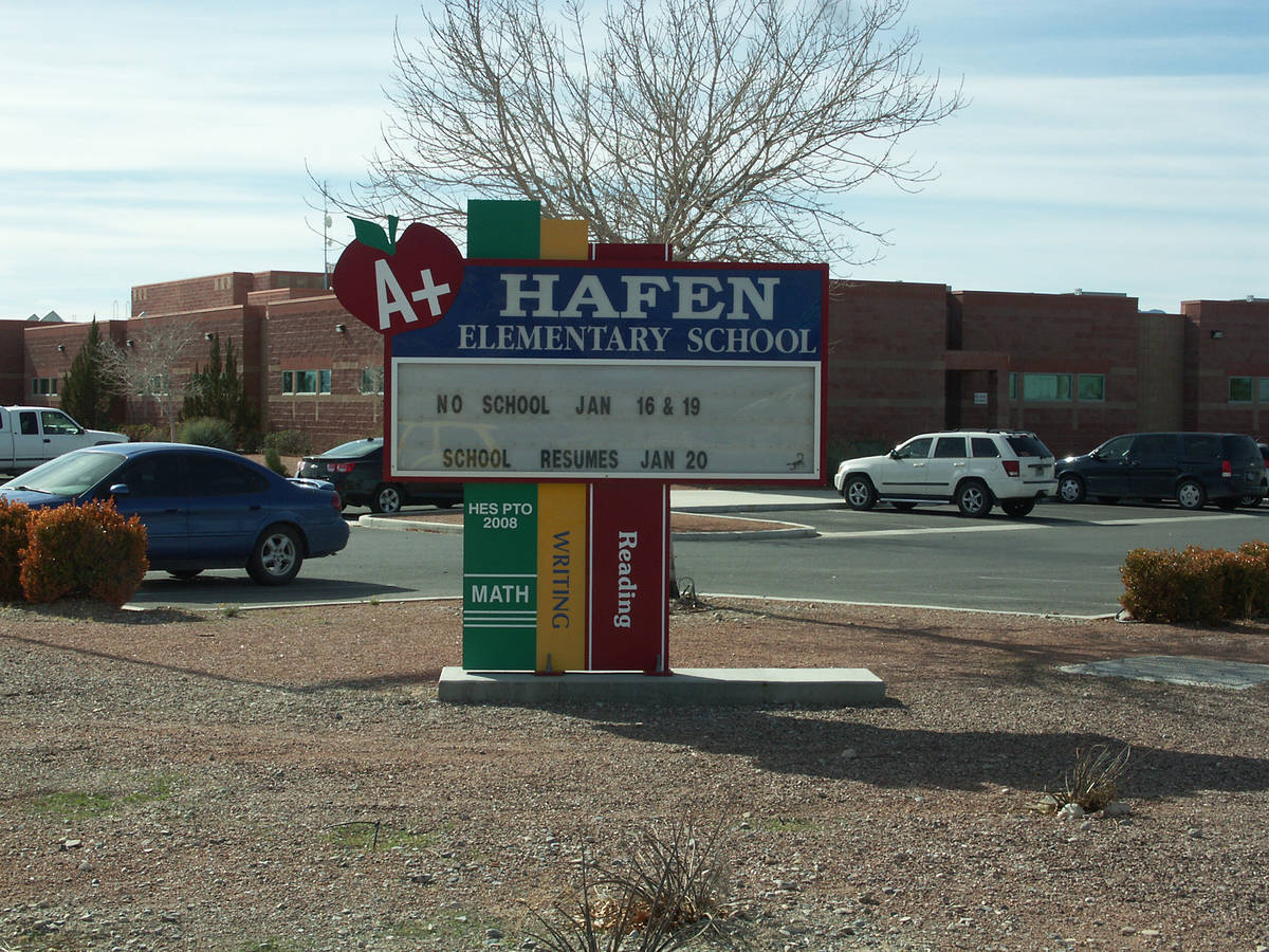 Jeffrey Meehan/Pahrump Valley Times All Nye County elementary schools, including Hafen Elementa ...
