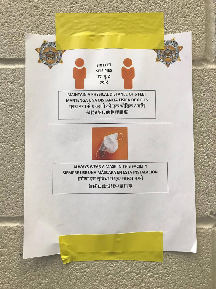 Special to the Pahrump Valley Times Provided by the Nye County Sheriff's Office, this photo sho ...