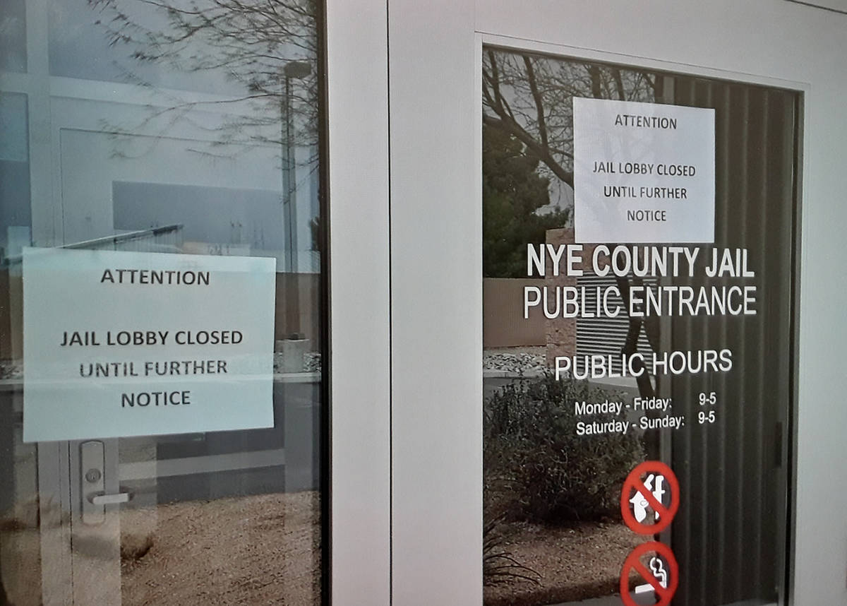 Special to the Pahrump Valley Times Nye County Detention Center in Pahrump has 30 confirmed cas ...