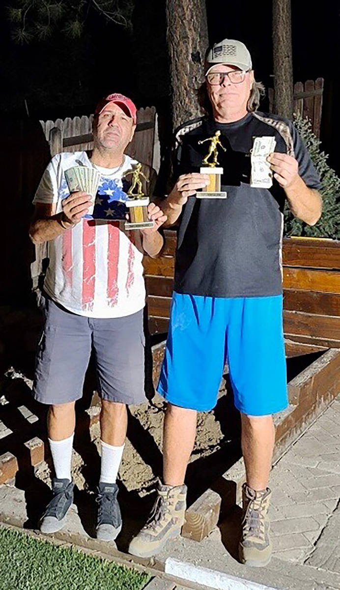 Kim Dilger/Special to the Pahrump Valley Times DJ Zuloaga, left, and Lathan Dilger went 7-1 to ...