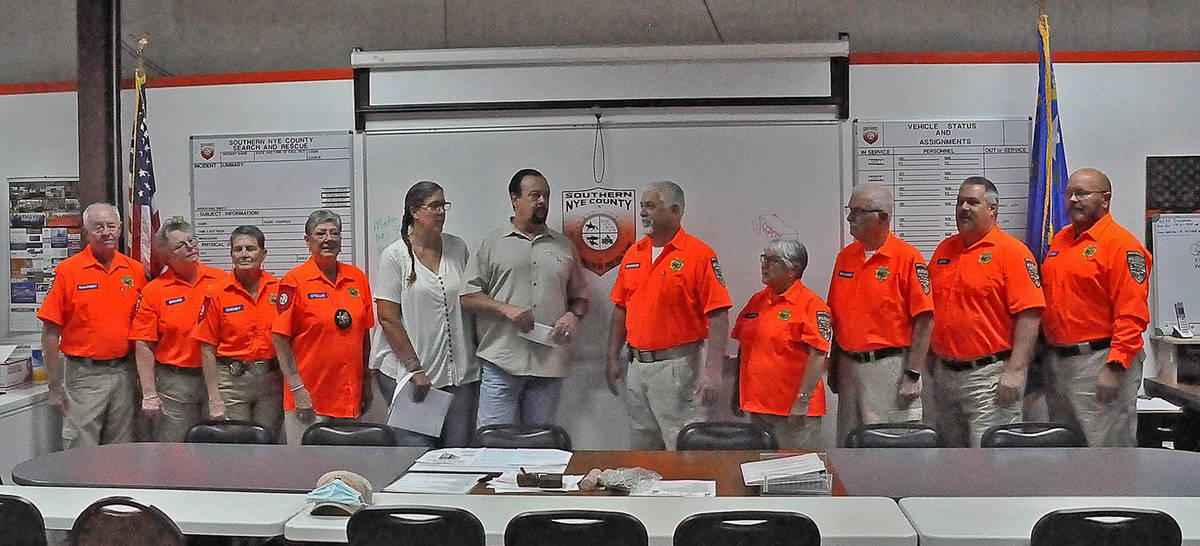 Horace Langford Jr./Pahrump Valley Times Members of the Southern Nye County Search and Rescue v ...