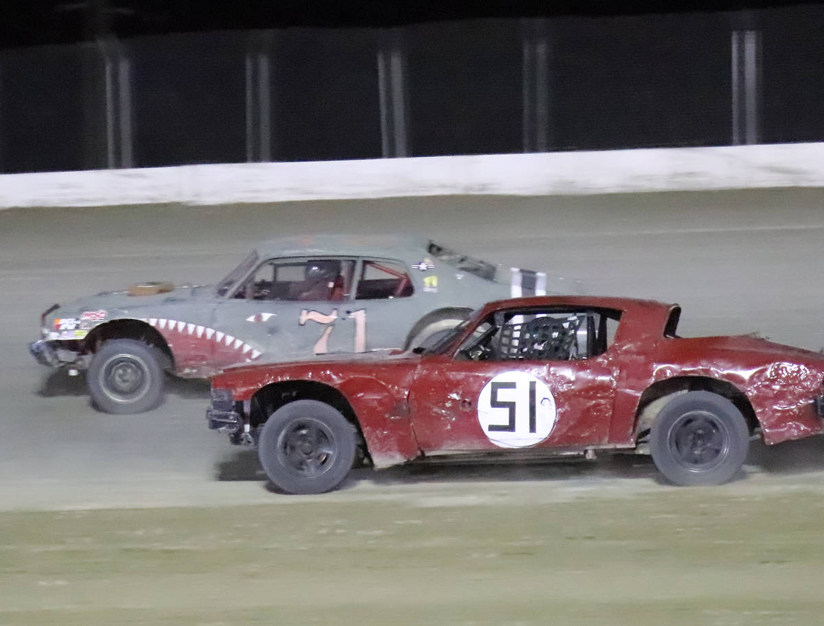 Digital Storm Photography/Special to the Pahrump Valley Times The Hobby Stock race Saturday nig ...