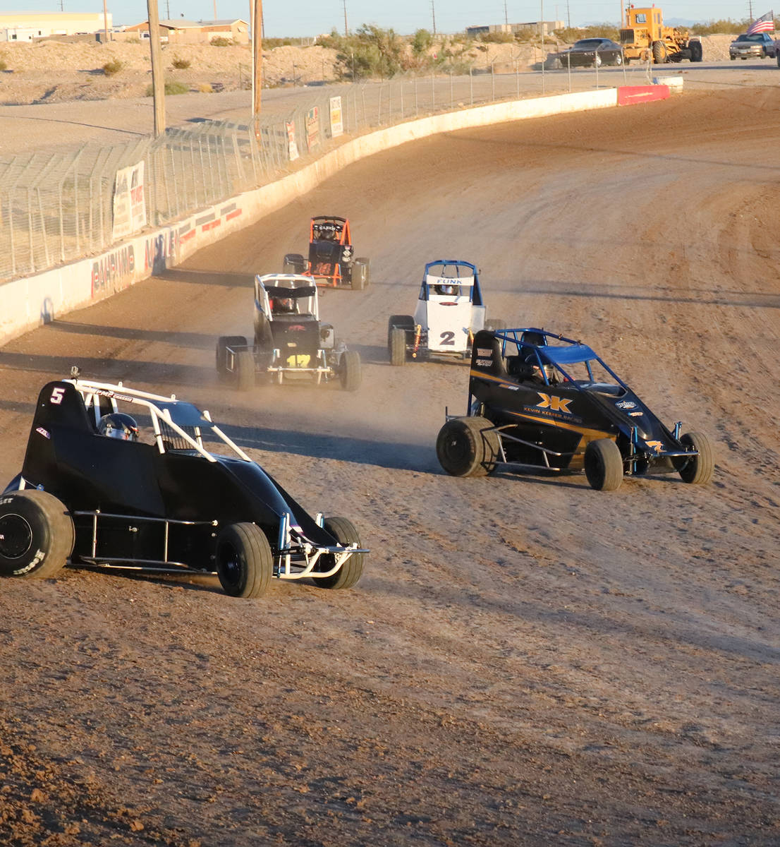 Digital Storm Photography/Special to the Pahrump Valley Times MicroSprint racers, from left, Bl ...