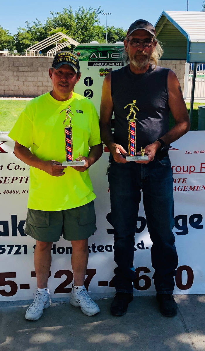 Kim Dilger/Special to the Pahrump Valley Times Bob Swain, left, and Russ Jacobs won all 10 of t ...