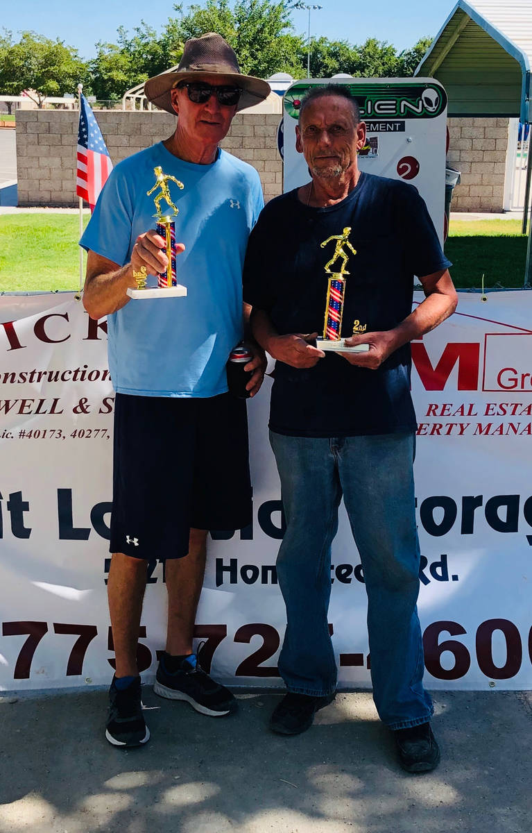 Kim Dilger/Special to the Pahrump Valley Times Dan Dunn, left, and John Pickard went 8-2 during ...