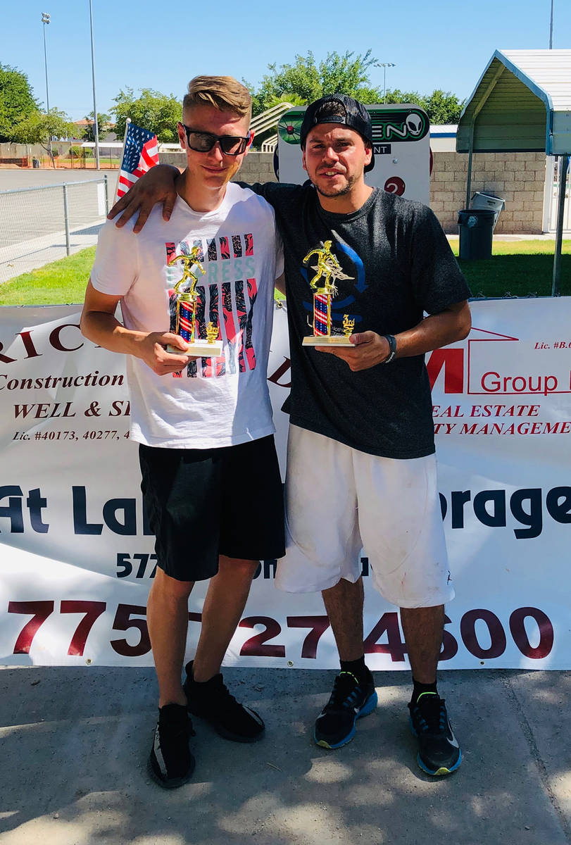 Kim Dilger/Special to the Pahrump Valley Times Kasey Dilger, left, and Willy Zuloaga finished 7 ...