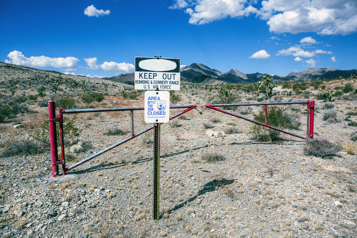 Jeff Scheid/Las Vegas Review-Journal A sign is posted in the Desert National Wildlife Refuge w ...