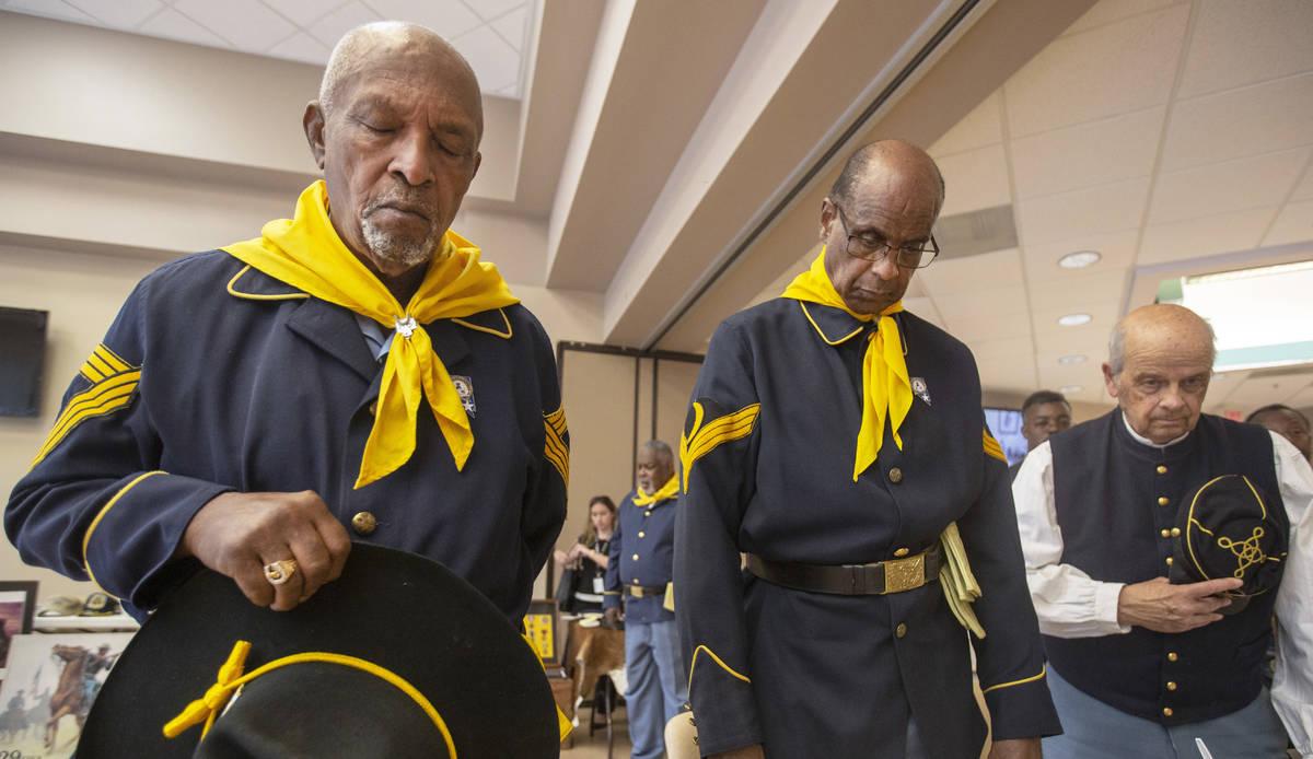 Michael Blackshire/Las Vegas Review-Journal Buffalo Soldier members William Crenshaw, left, Oll ...