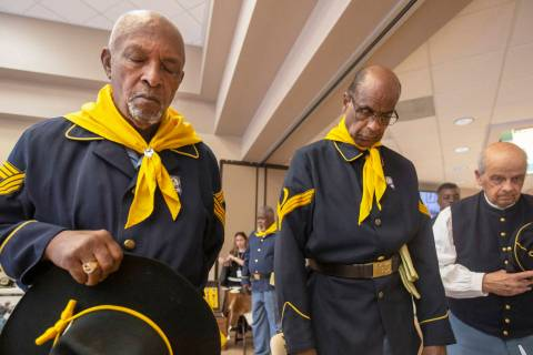 Michael Blackshire/Las Vegas Review-Journal Buffalo Soldier members William Crenshaw, left, Oll ...