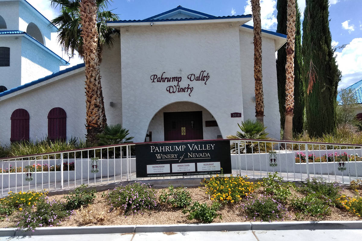 Selwyn Harris/Pahrump Valley Times The liquor license of the Pahrump Valley Winery was suspend ...
