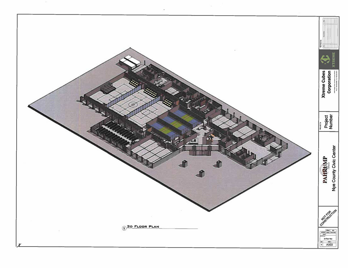 Special to the Pahrump Valley Times This 3D floor plan details what the interior of the propose ...