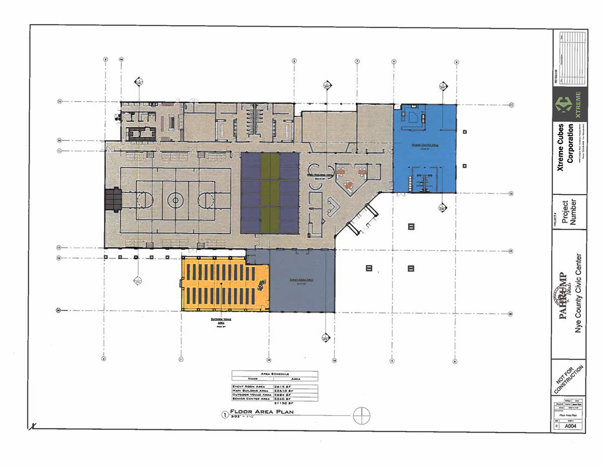 Special to the Pahrump Valley Times This floor area plan outlines the various zones within the ...