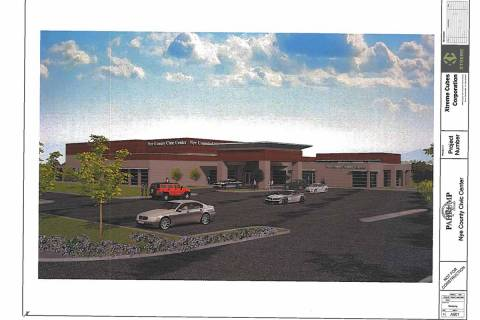 Special to the Pahrump Valley Times This rendering, included with the Nye County Commission's J ...