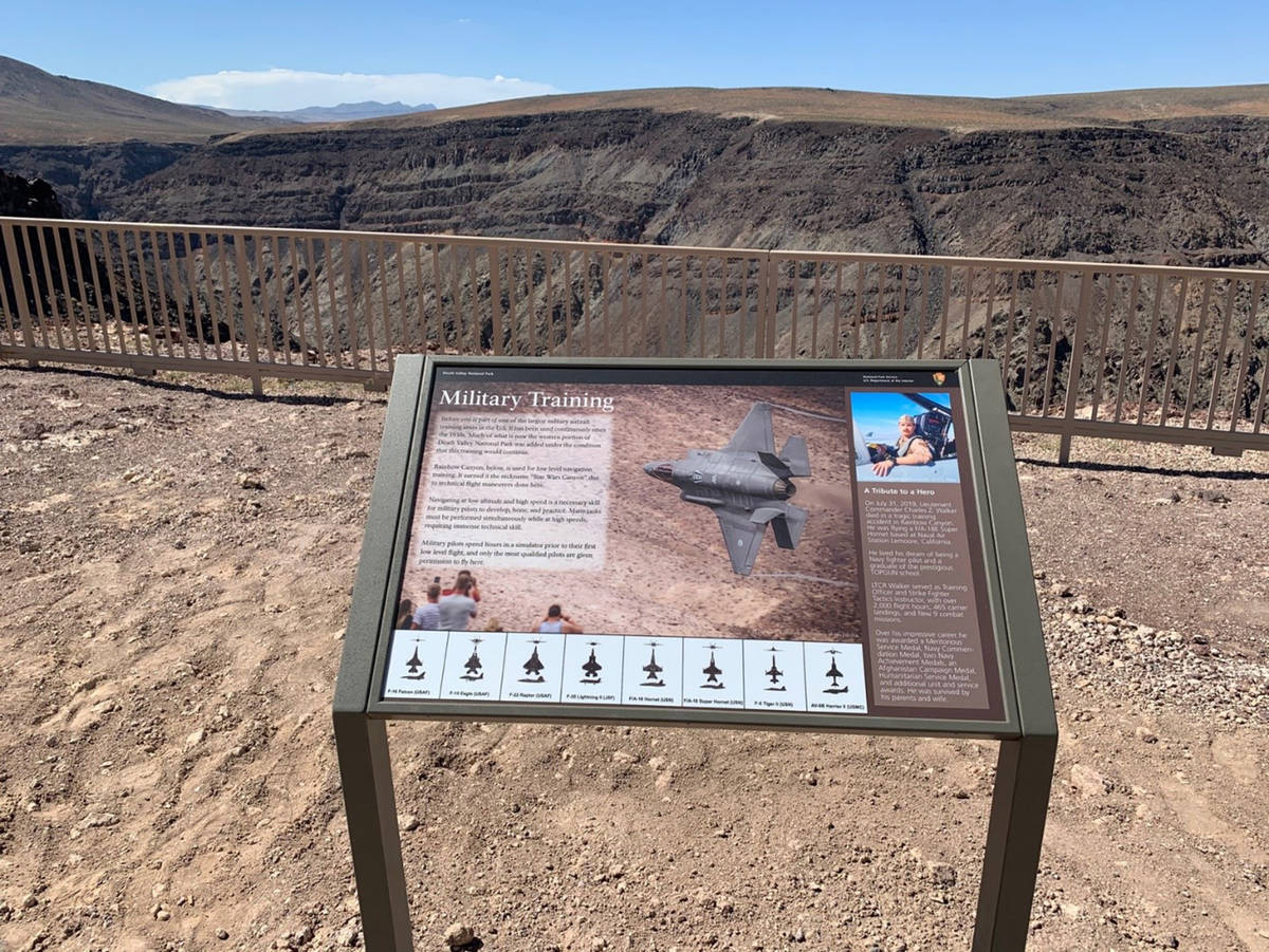 Special to the Pahrump Valley Times This wayside exhibit at the Father Crowley Vista Point educ ...