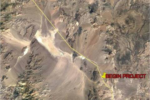 Nevada Department of Transportation The enhancements run along U.S. Highway 95 between mile mar ...