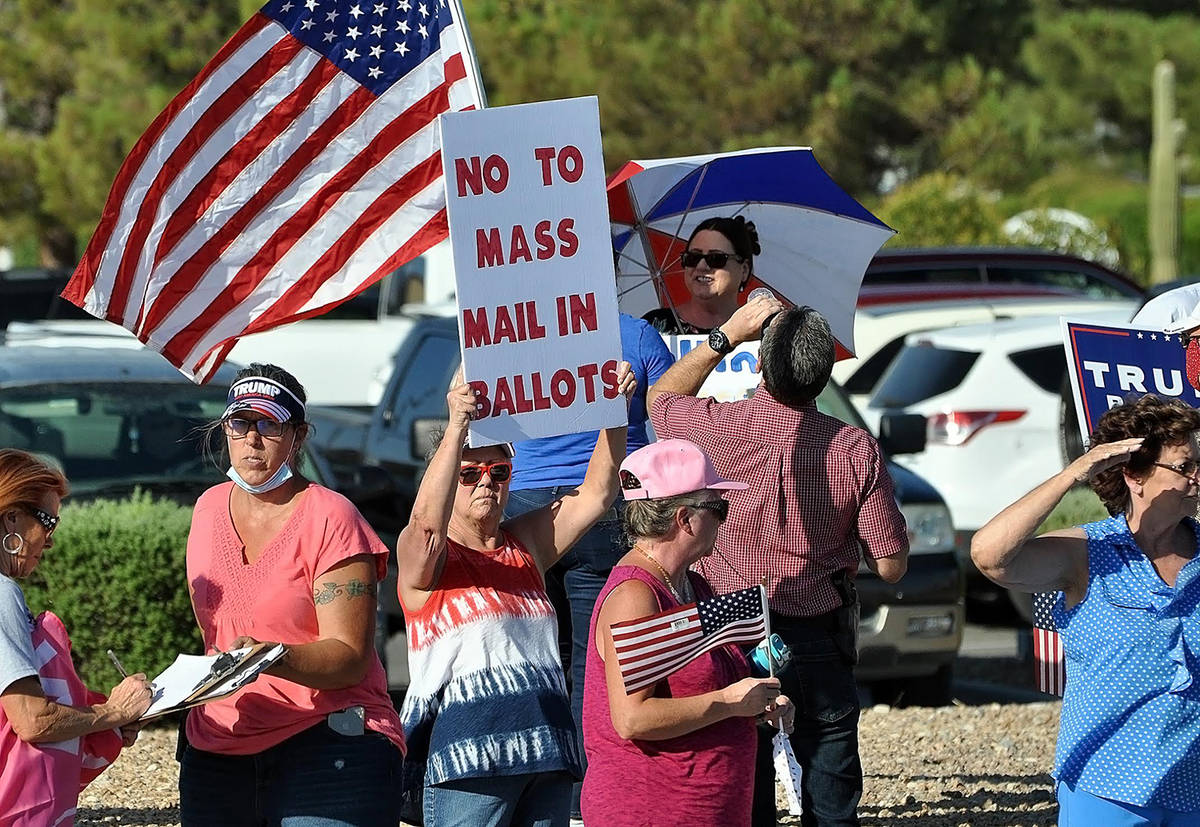 Horace Langford Jr./Pahrump Valley Times A Protect the Vote Rally took place in Pahrump on Tues ...