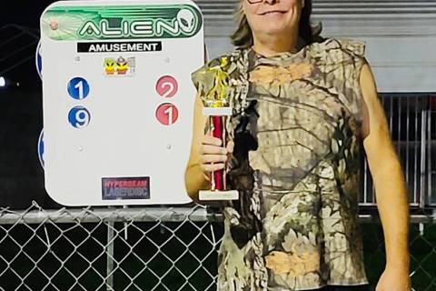 Kim Dilger/Special to the Pahrump Valley Times Lathan Dilger with the first-place trophy after ...