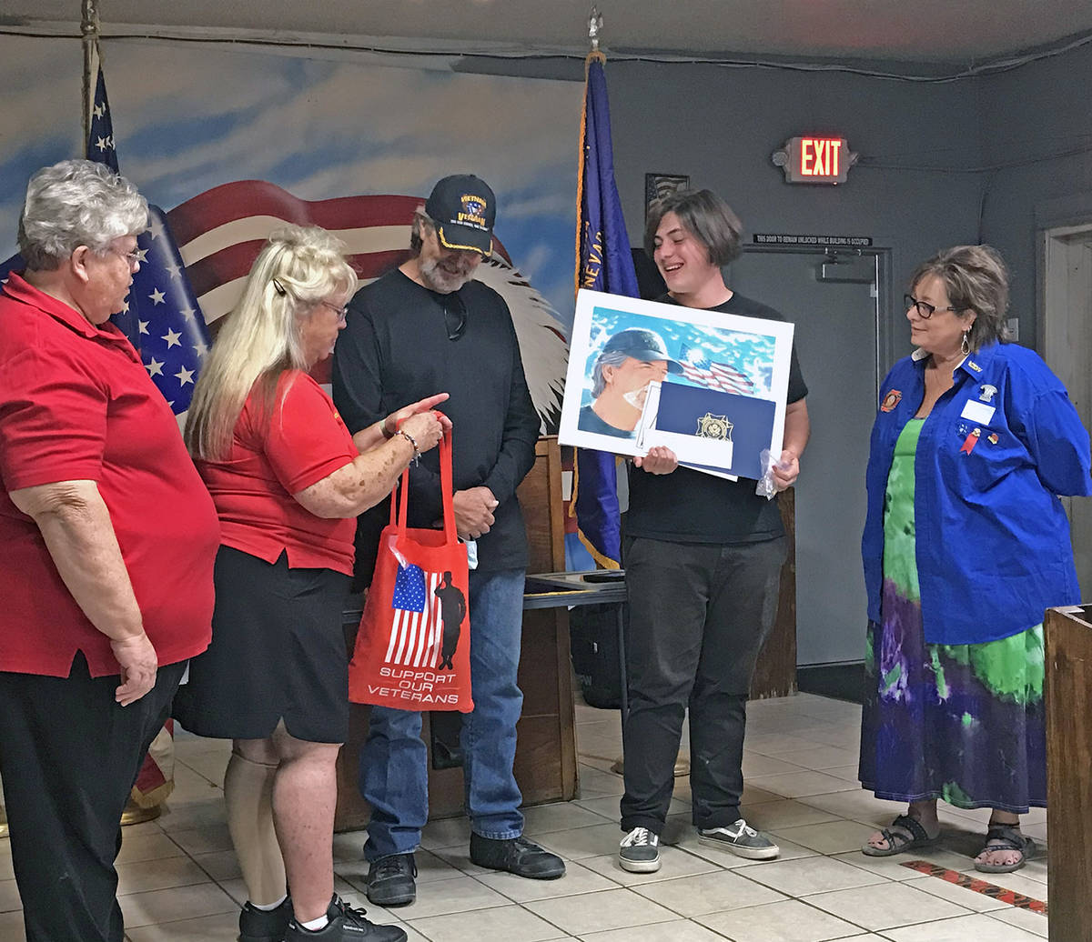 Robin Hebrock/Pahrump Valley Times From left to right are Past Past Nevada State VFW Auxiliary ...