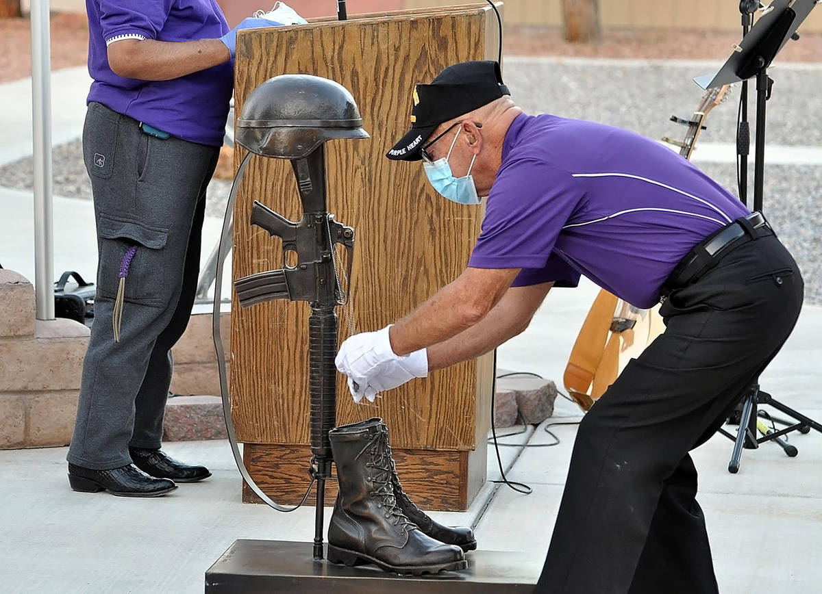 Horace Langford Jr./Pahrump Valley Times The 2020 Purple Heart Day Sundown Ceremony took place ...