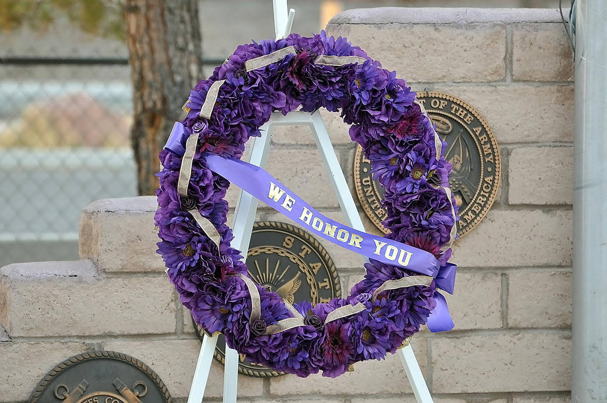 Horace Langford Jr./Pahrump Valley Times A beautiful purple wreath was displayed as part of the ...