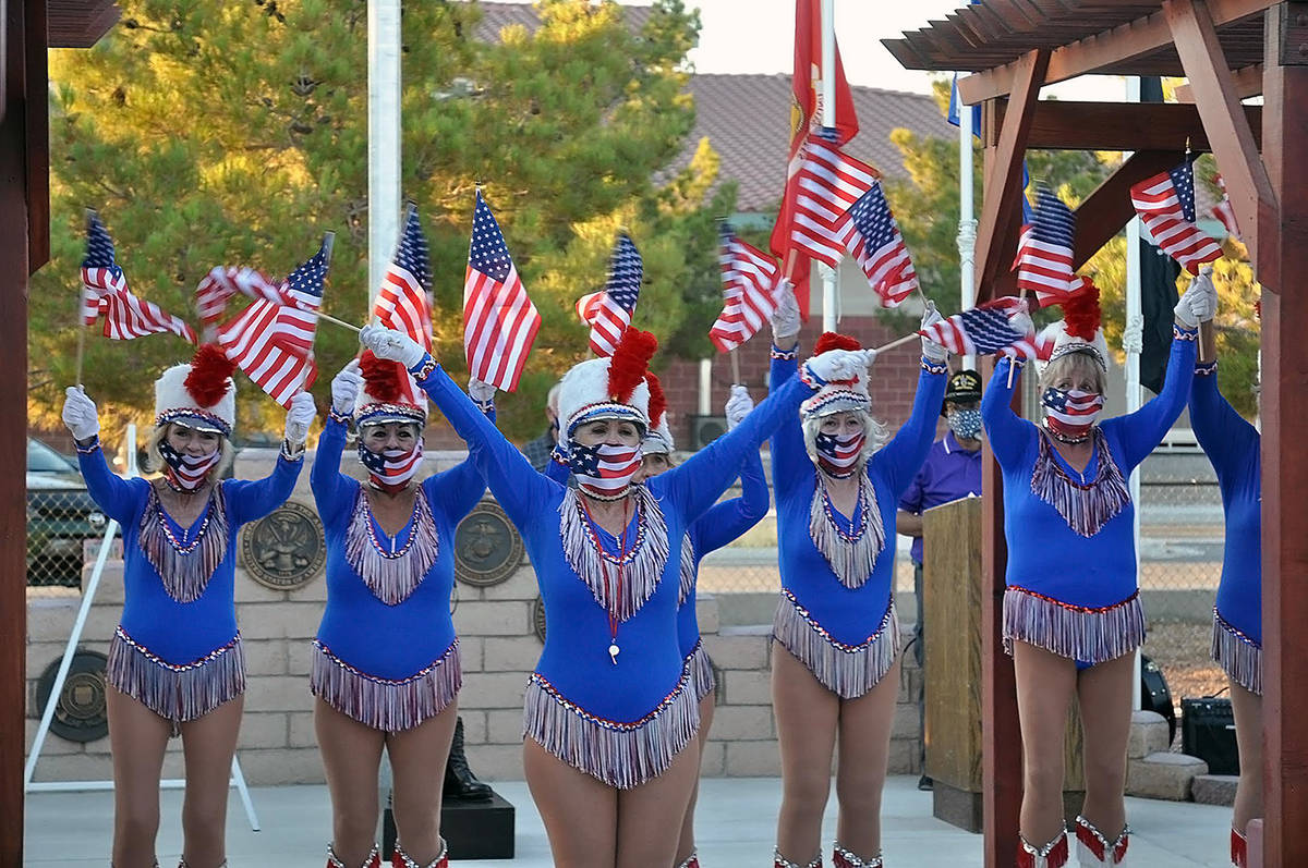 Horace Langford Jr./Pahrump Valley Times The Nevada Silver Tappers performed for the socially-d ...