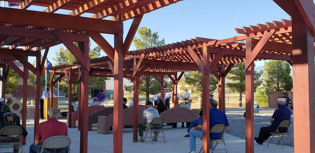 Fe Waters/Special to the Pahrump Valley Times The scene at this year's Purple Heart ceremony in ...