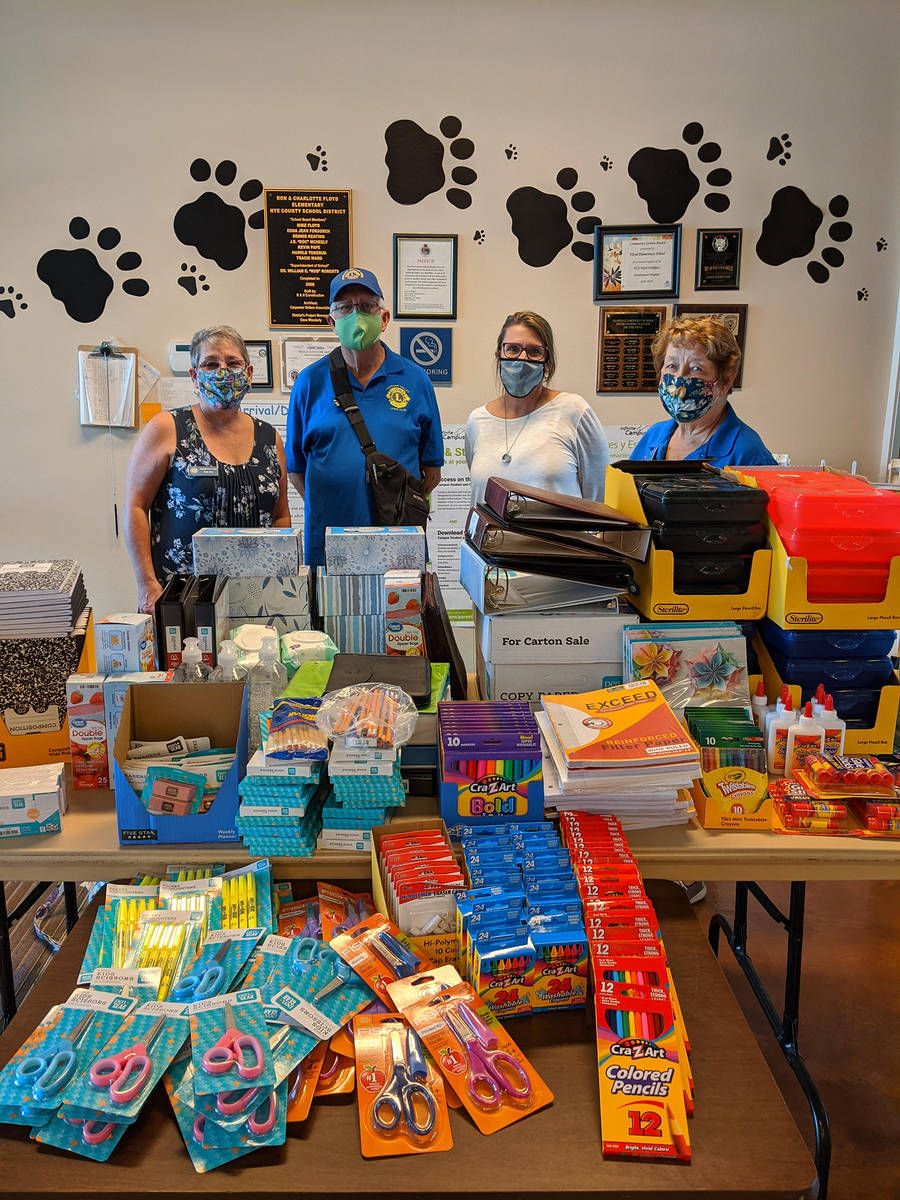 Special to the Pahrump Valley Times Pictured from left to right are Lions Club member Sue Bai, ...