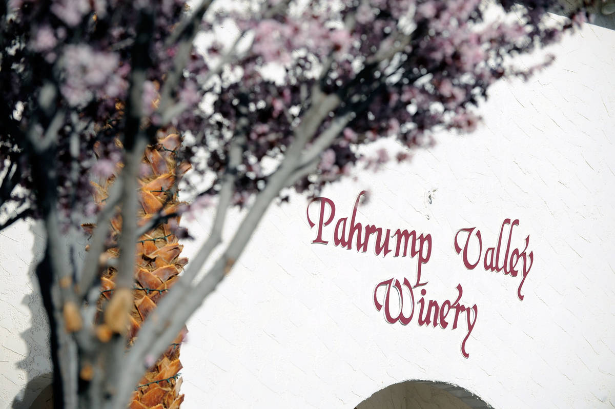 David Becker/Las Vegas Review-Journal The front entrance at the Pahrump Valley Winery is seen o ...