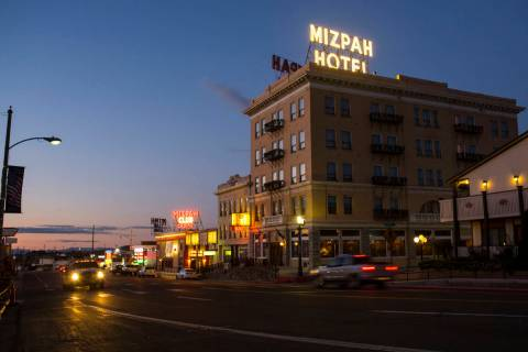 The Mizpah Hotel is seen in Tonopah in October 2018. (Chase Stevens Las Vegas Review-Journal @c ...