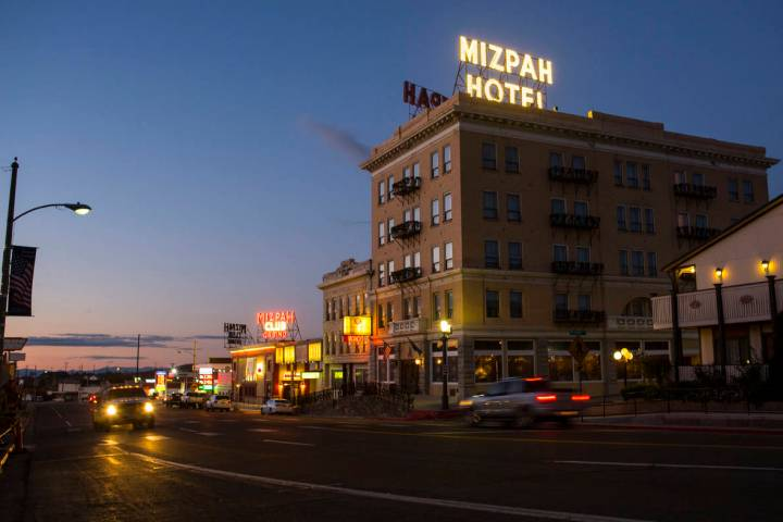 The Mizpah Hotel is seen in Tonopah in October 2018. (Chase Stevens Las Vegas Review-Journal @c ...