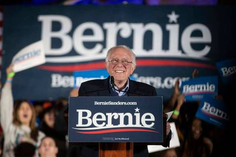 Benjamin Hager/Las Vegas Review-Journal Democratic presidential candidate Sen. Bernie Sanders, ...