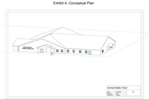 Special to the Pahrump Valley Times This conceptual drawing, included in the bidding package fo ...