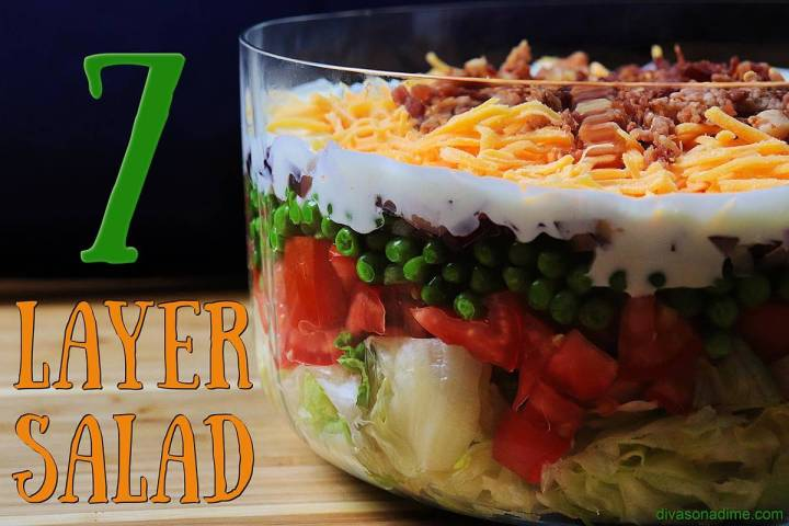 Patti Diamond/Special to the Pahrump Valley Times Here is a simple salad with seven layers that ...