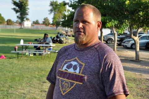 Pahrump Valley Times file Dusty Park talks about the Junior Trojans Soccer Club's teams and his ...