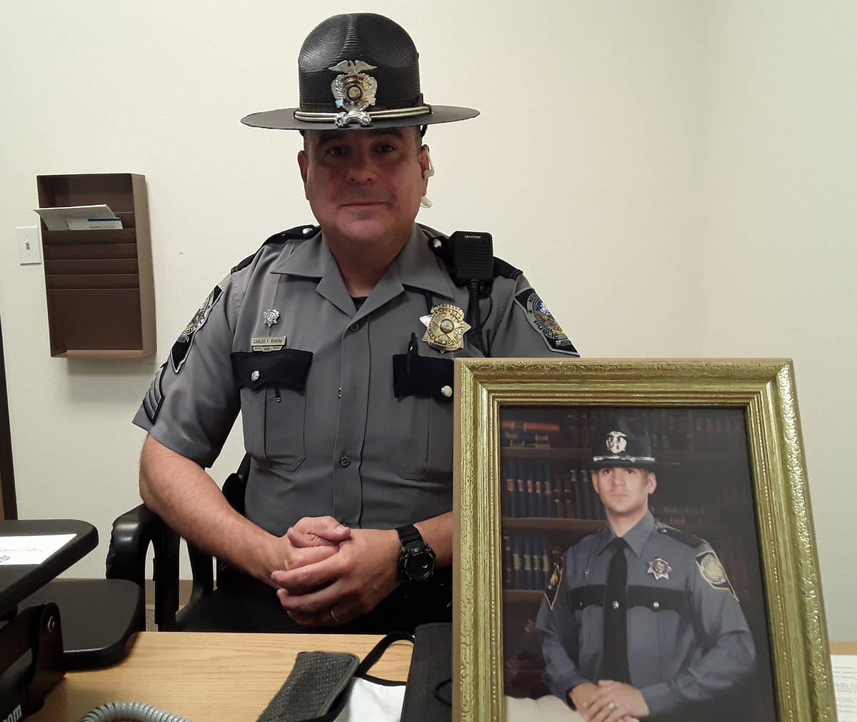 Selwyn Harris/Pahrump Valley Times NHP Sgt. Carlos Rivera is set to retire this month after ser ...