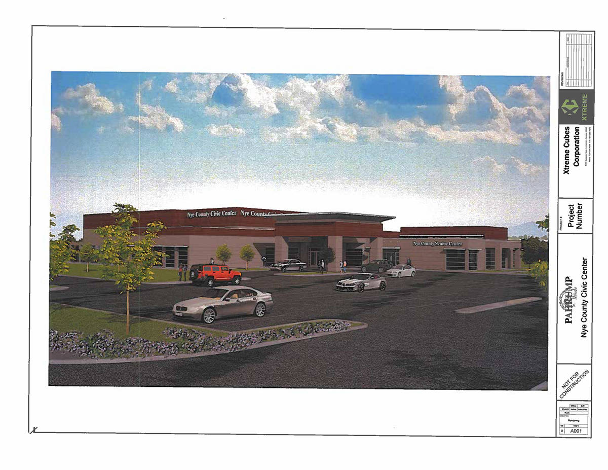 Special to the Pahrump Valley Times Nye County's proposal for a community center utilizing a pr ...